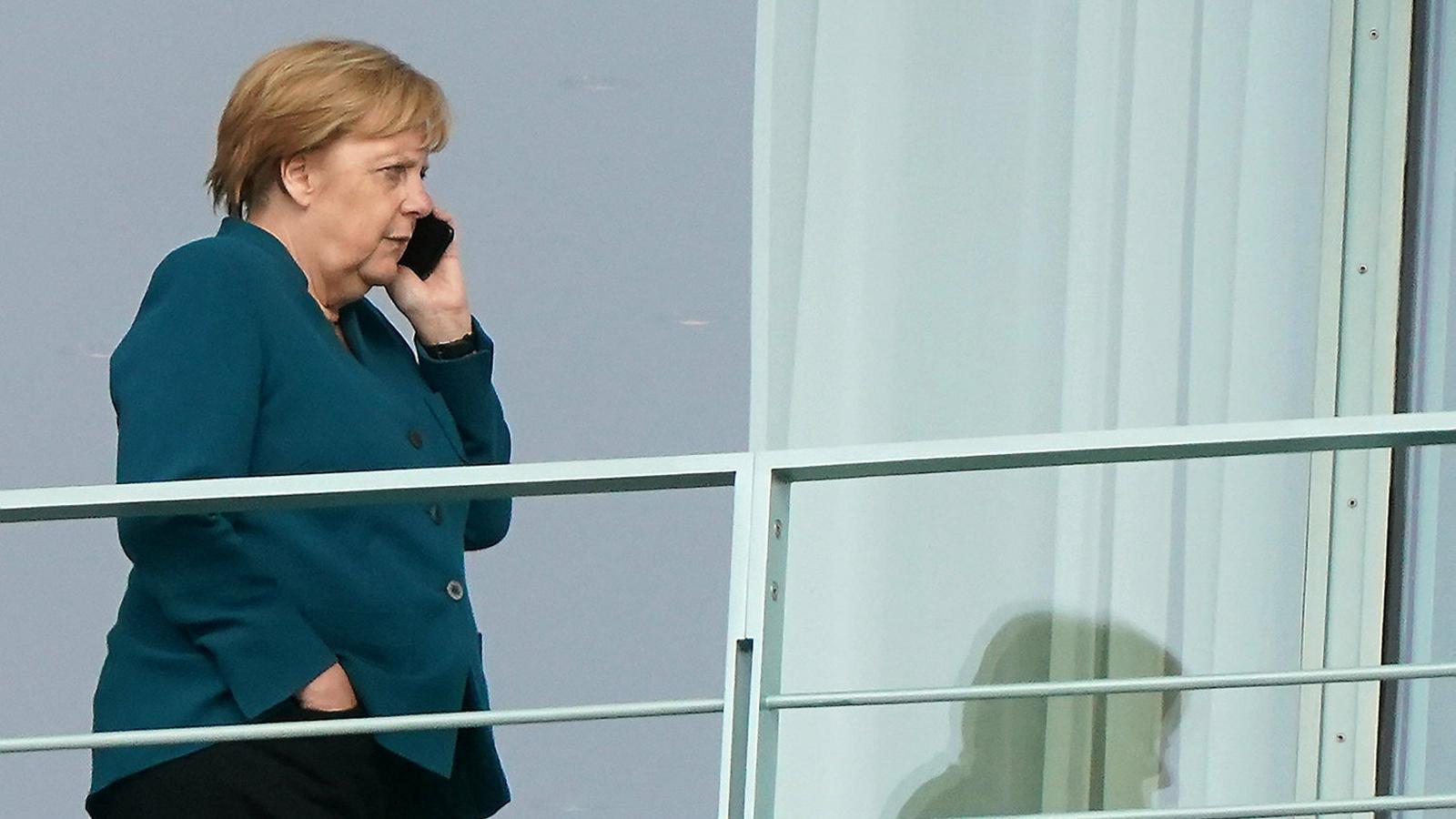 La cancellera alemanya, Angela Merkel, divendres quan va explicar el seu pla per destinar 54.000 milions d'euros a un programa d'inversions verdes per deixar de ser un dels països del món amb més emissions de CO2.