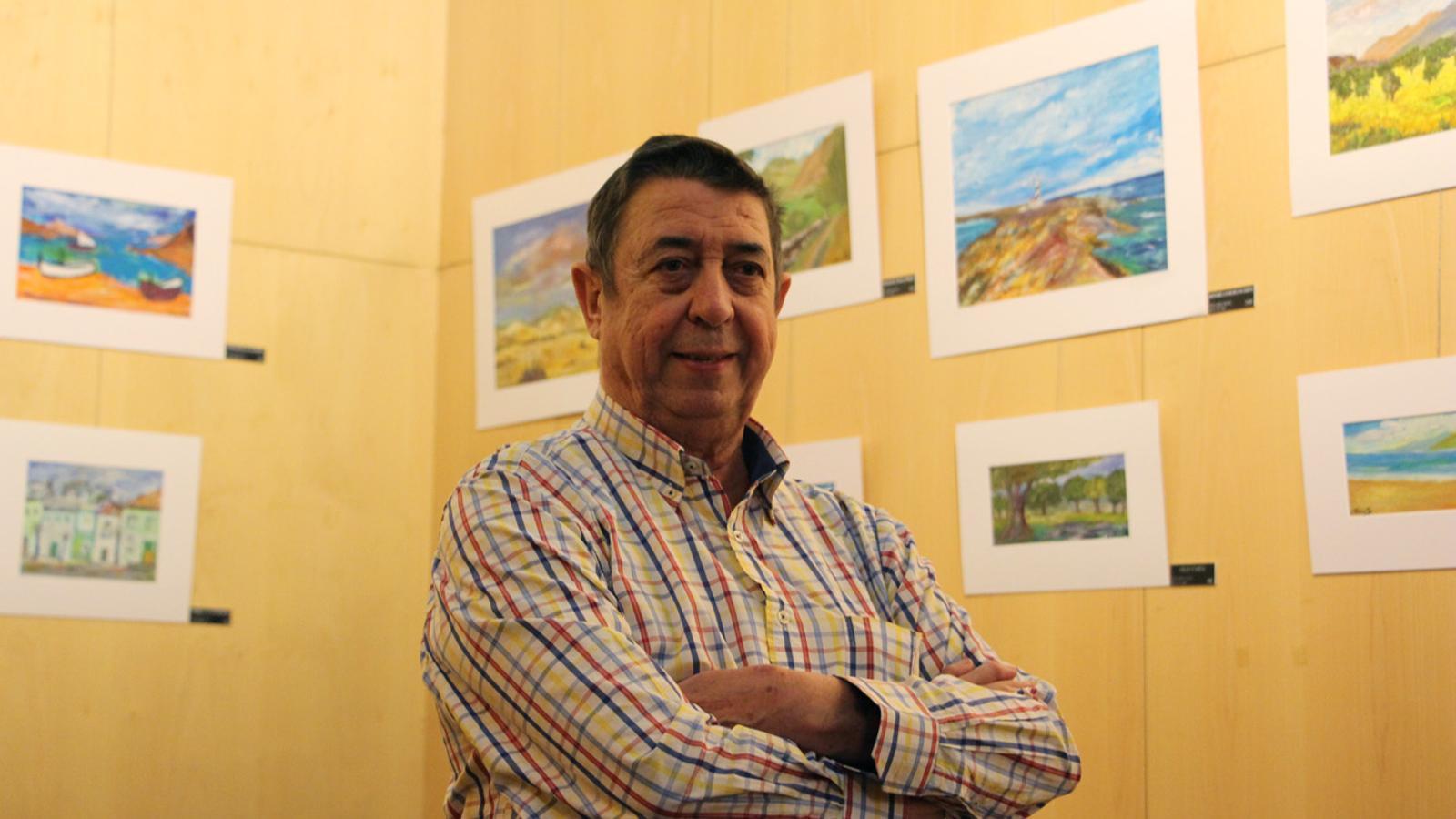 Joan Torruella exposa 'Paisatges' al vestíbul del Bingo Star's del 19 de setembre al 31 d'octubre. / T. N. (ANA)