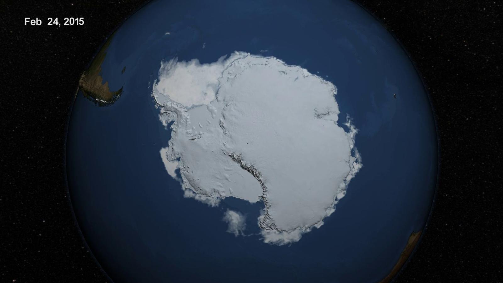 El gel marí de l'Antàrida recula lleugerament respecte de l'any passat