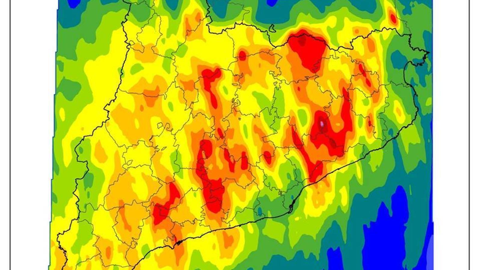 Perill de desbordament al tram baix del Llobregat