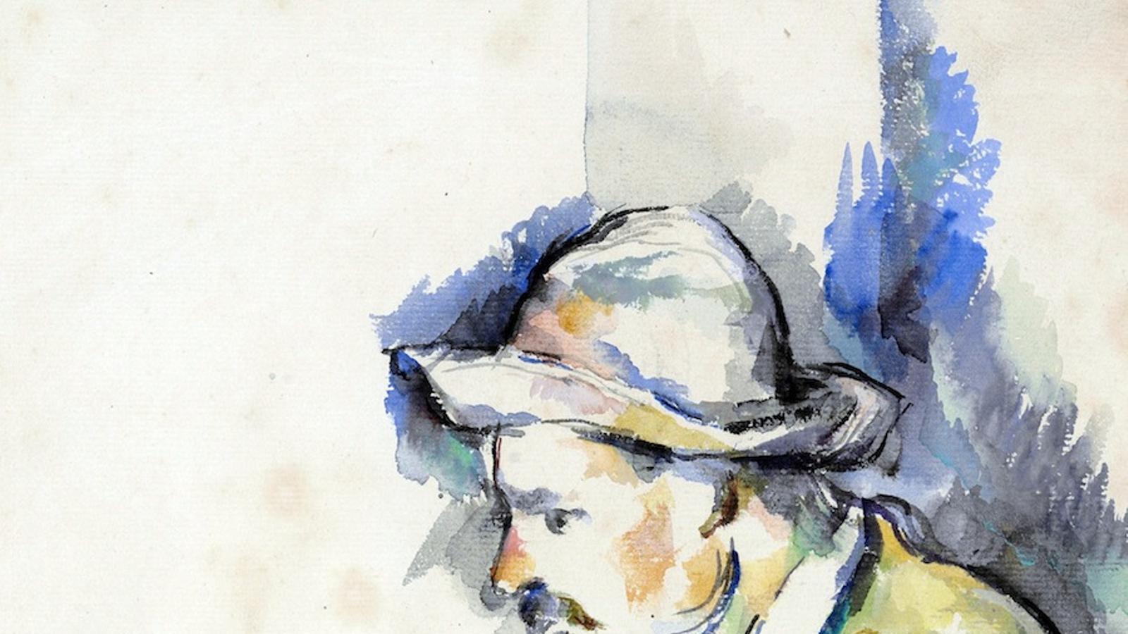 Una aquarel·la de la sèrie 'Els jugadors de carte' de Paul Cézanne / EFE