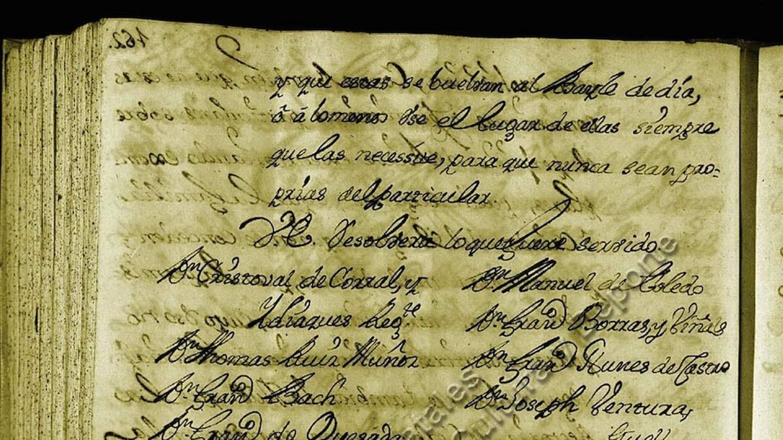 Document de l'Arxiu de la Corona d'Aragó amb la referència més antiga dels 'Pastorets'