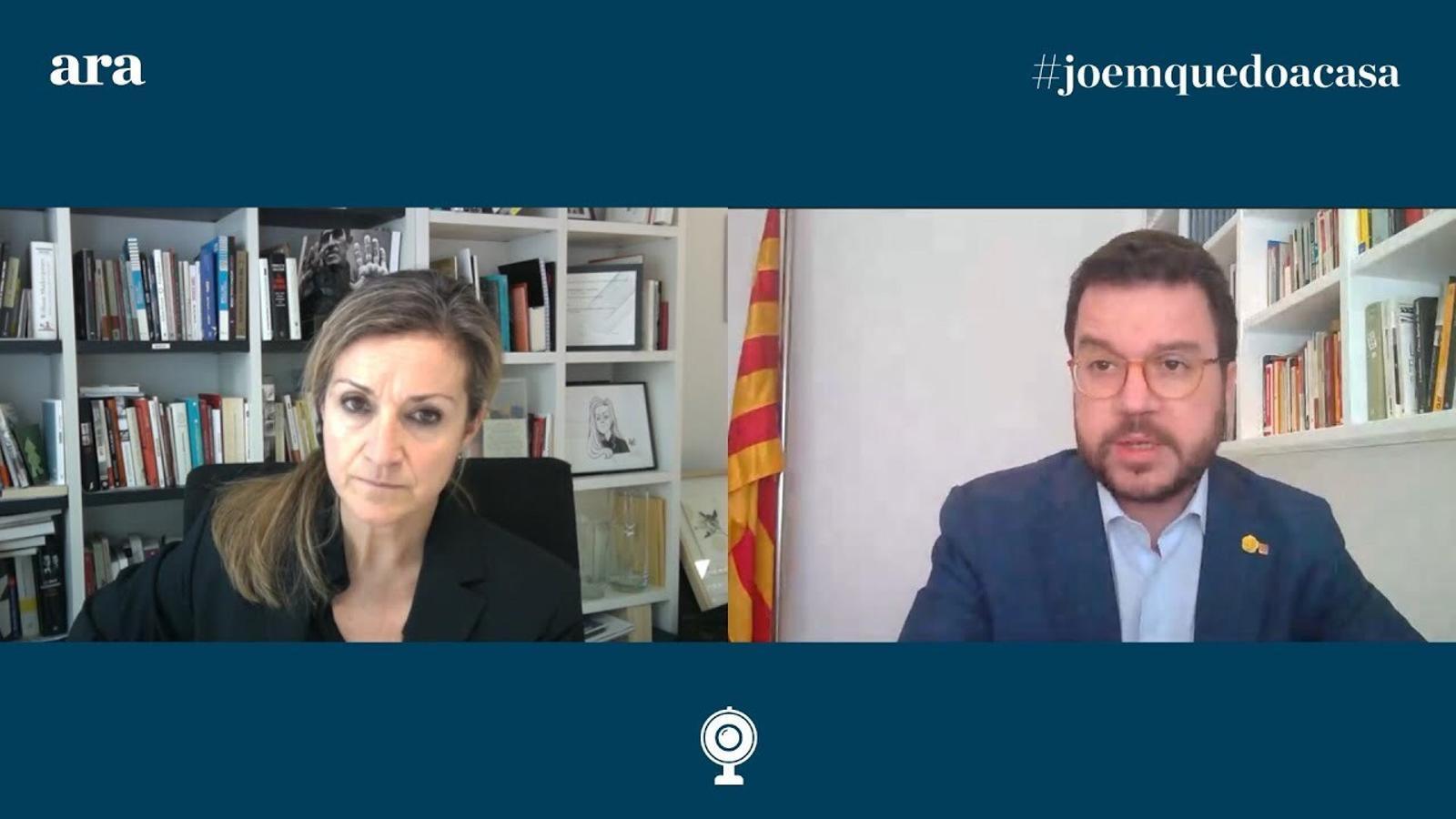 Esther Vera entrevista a Pere Aragonès