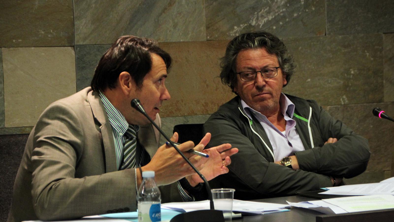 els consellers de la minoria d'Ordino, Enric Dolsa i Xavi Jiménez. / M.C.