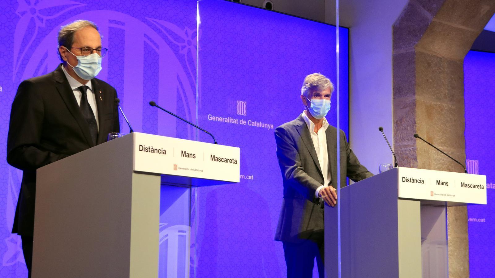 EN DIRECTE: Torra, Vergés i Argimon anuncien noves mesures per contenir l'avenç del coronavirus a Catalunya