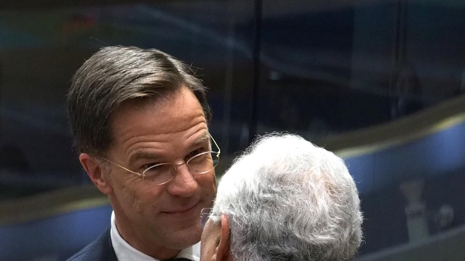El primer ministre holandès, Mark Rutte, amb el primer ministre portuguès, António Costa.