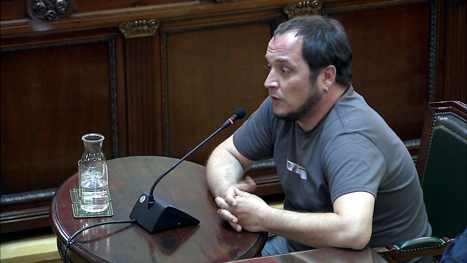 L'exdiputat de la CUP David Fernàndez al Tribunal Suprem.