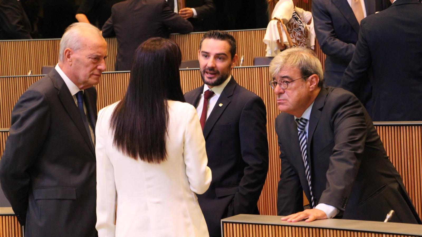 Els consellers del grup demòcrata. / ARXIU ARA