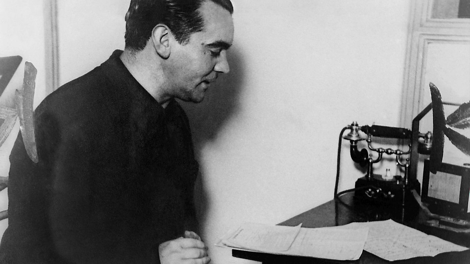 Federico García Lorca en una visita a Buenos Aires l'octubre del 1933.