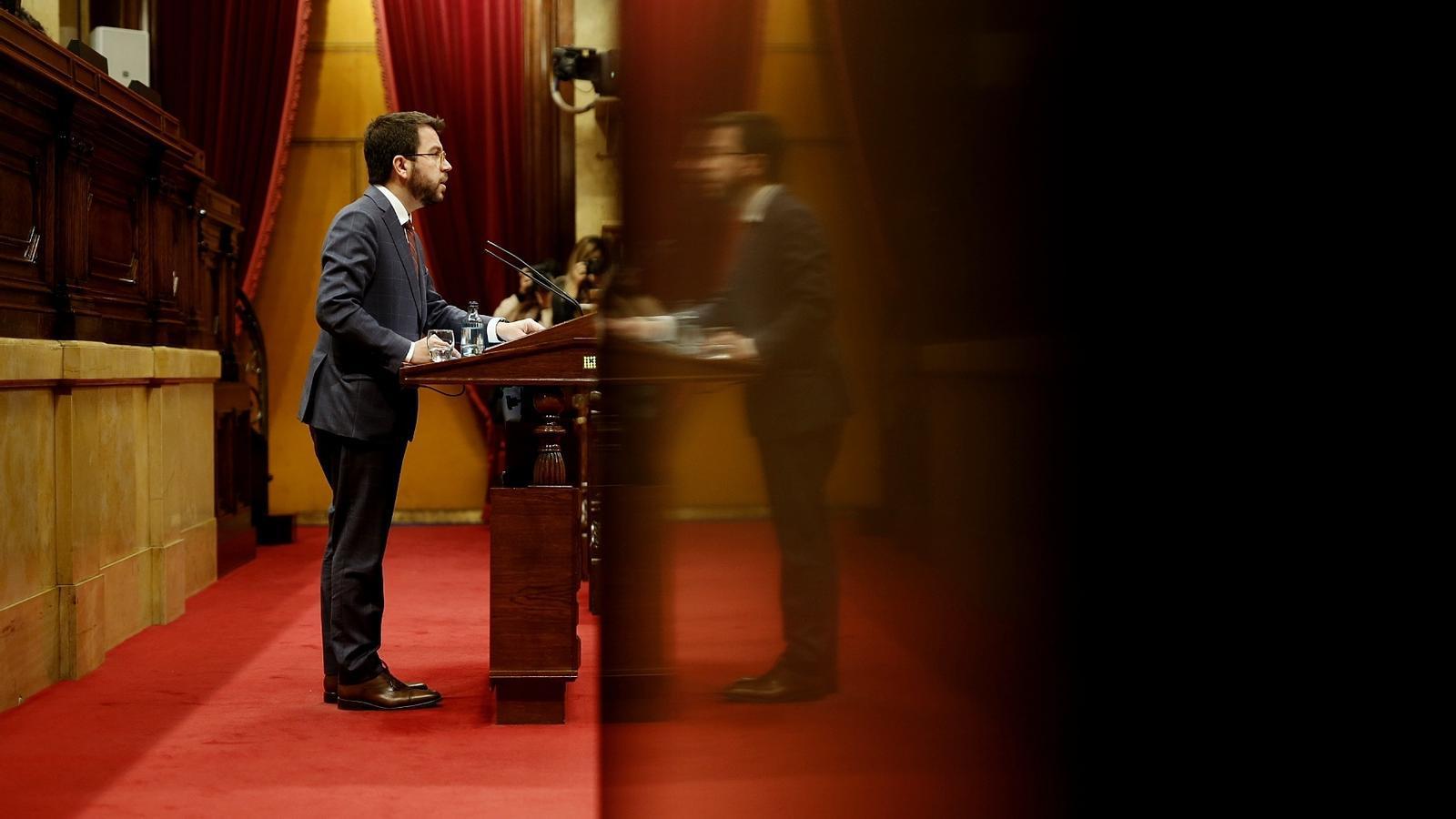 """Aragonès ja contempla un """"pas enrere"""" en la desescalada: """"No anem gens bé"""""""
