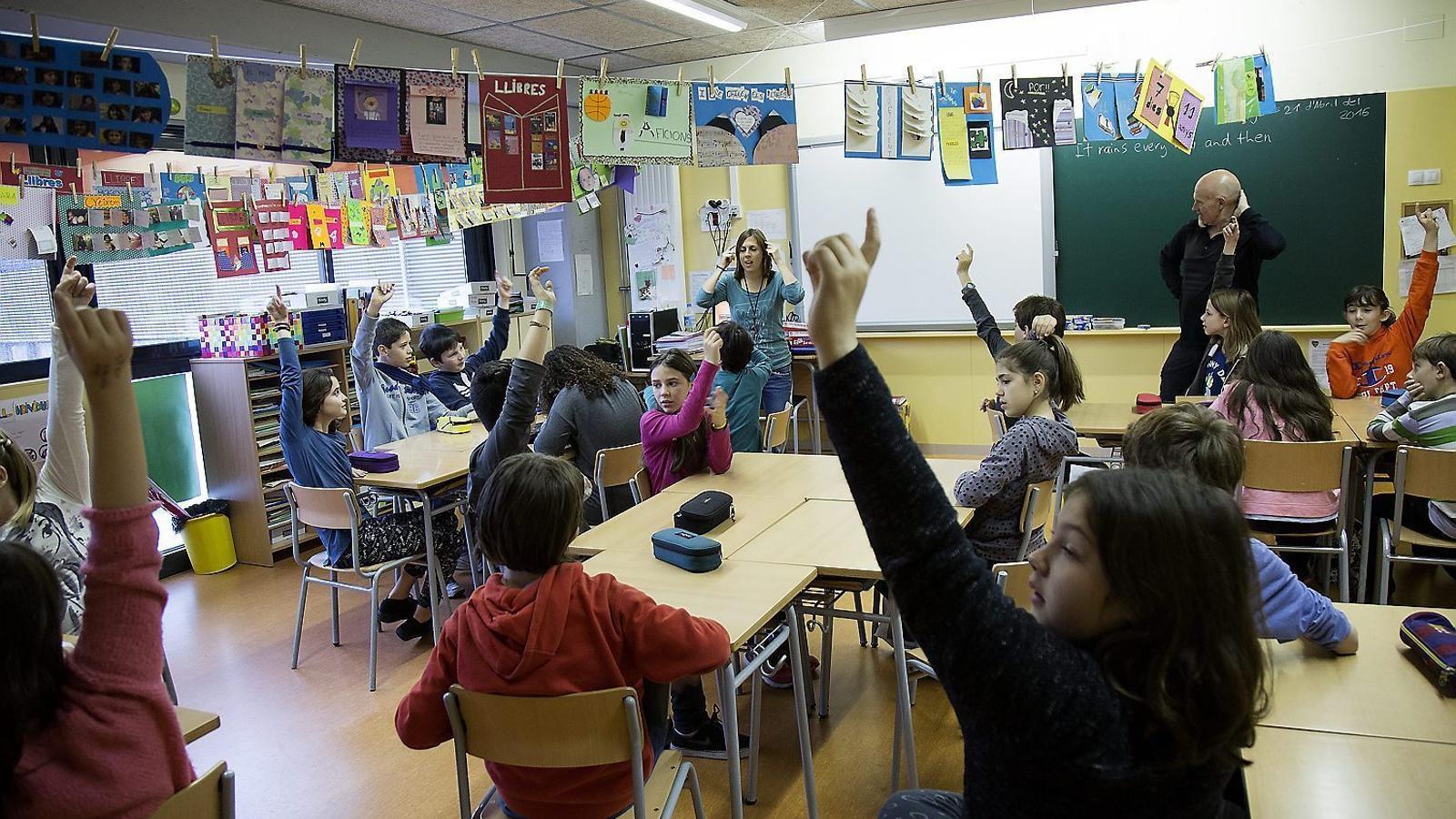 L'escola Fructuós Gelabert, situada a l'Eixample, és un dels centres que forma part del programa Escola Nova 21. / FRANCESC MELCION