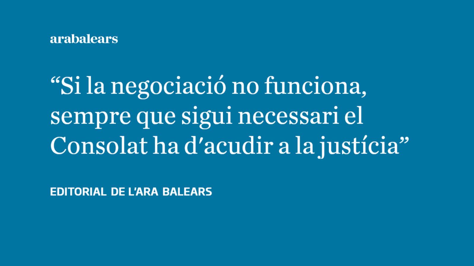 El Govern balear ha de ser capaç de plantar cara quan l'espanyol no compleix