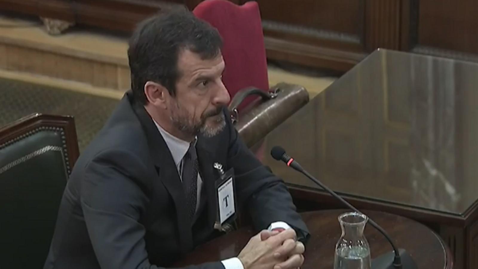"""Ferran López: """"Puigdemont va dir que si es produïa l'escenari [de disturbis] que prevèiem, declarava la independència"""""""
