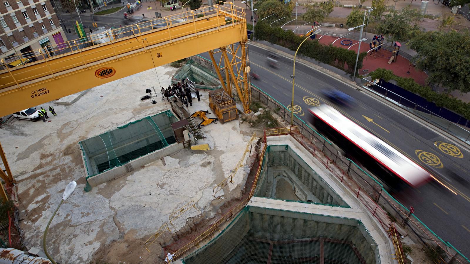 LA L9 DEL METRO  Una vista de les obres de la línia 9 del Metro de Barcelona