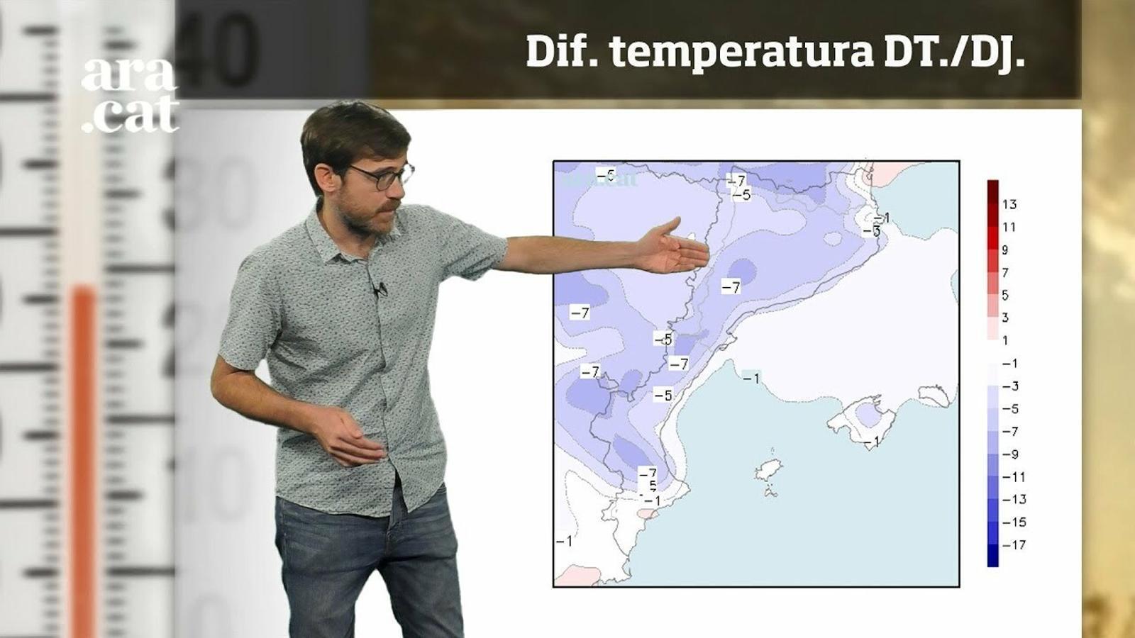 La méteo en 1 minut: ruixats puntuals i migdies més freds