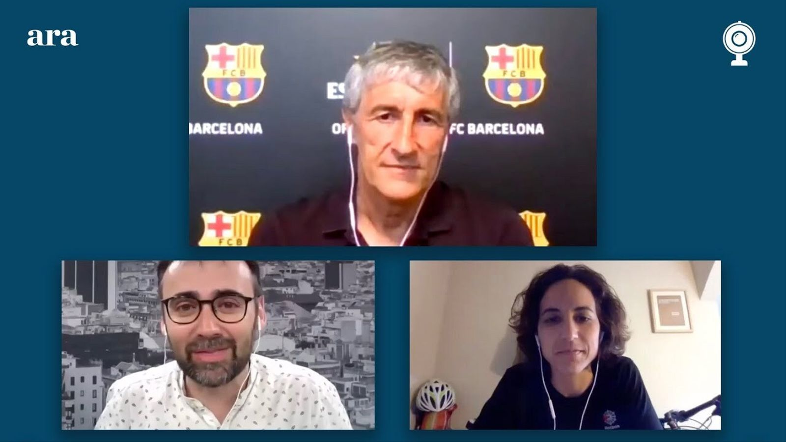 Entrevista de Toni Padilla i Natalia Arroyo a Quique Setién