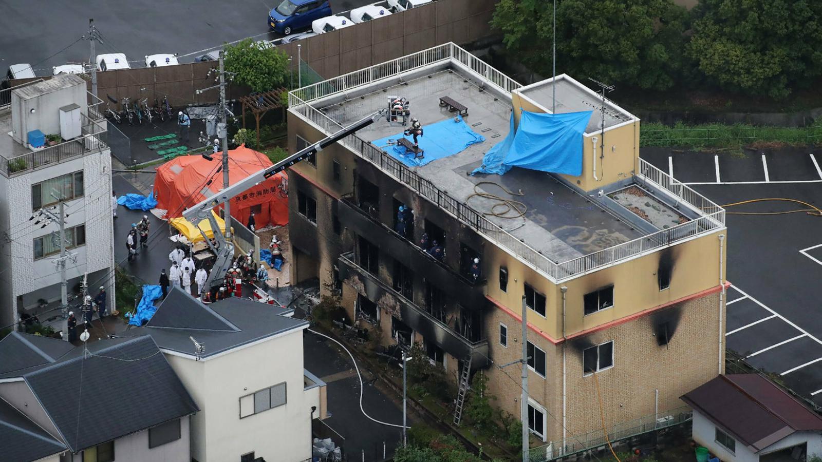 Un incendi provocat deixa  33 morts en un estudi d''anime'