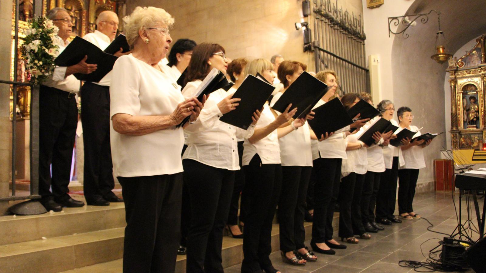 Un moment del concert de primavera de la Coral Casamanya a l'església parroquial d'Ordino. / M. P. (ANA)