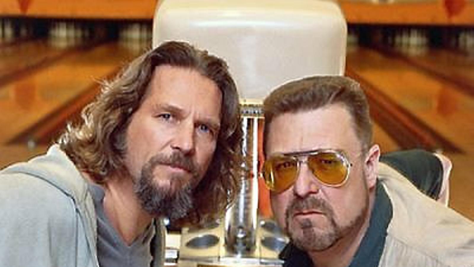 Jeff Bridges i John Goodman en una escena del mític film El gran Lebowski.