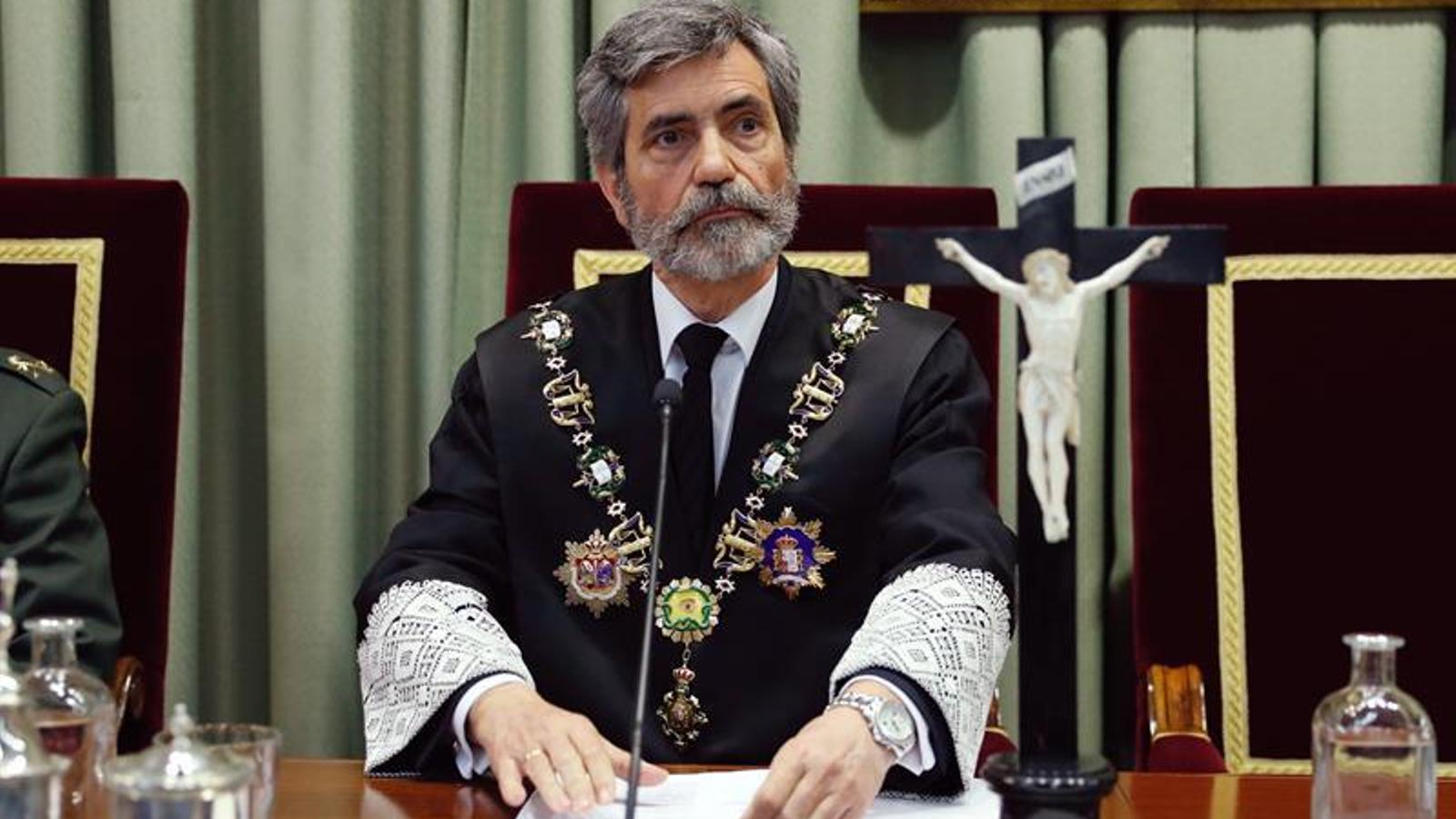 El presidente del CGPJ, Carlos Lesmes. / EFE