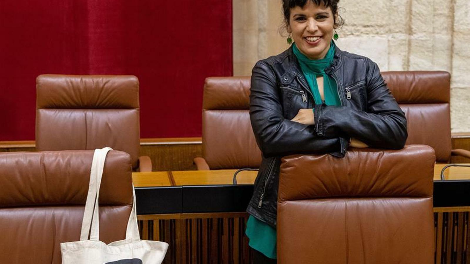 La fins ara líder de Podem a Andalusia i referent de la corrent de l'Esquerra Anticapitalista, Teresa Rodríguez.