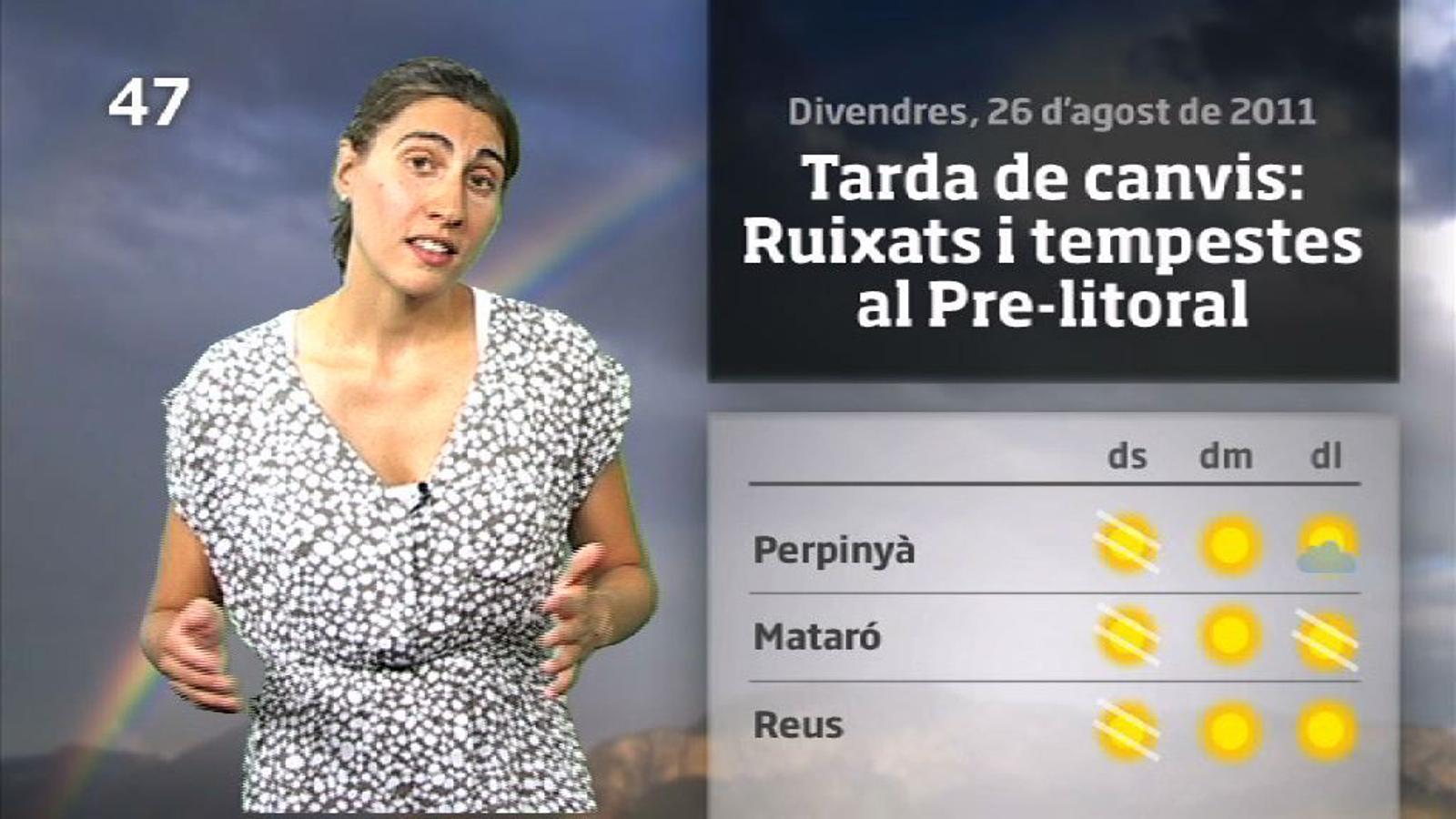 La Méteo en 1 minut: Canvi de temps: Stop a la xafogor (26/08/2011)