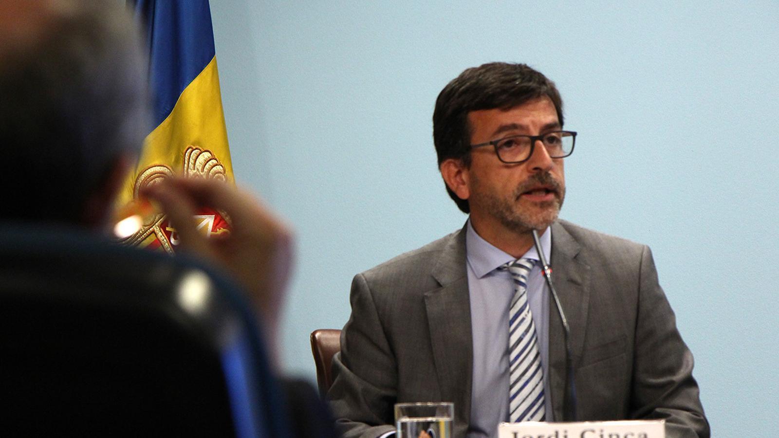 El ministre portaveu, Jordi Cinca. / M. M. (ANA)
