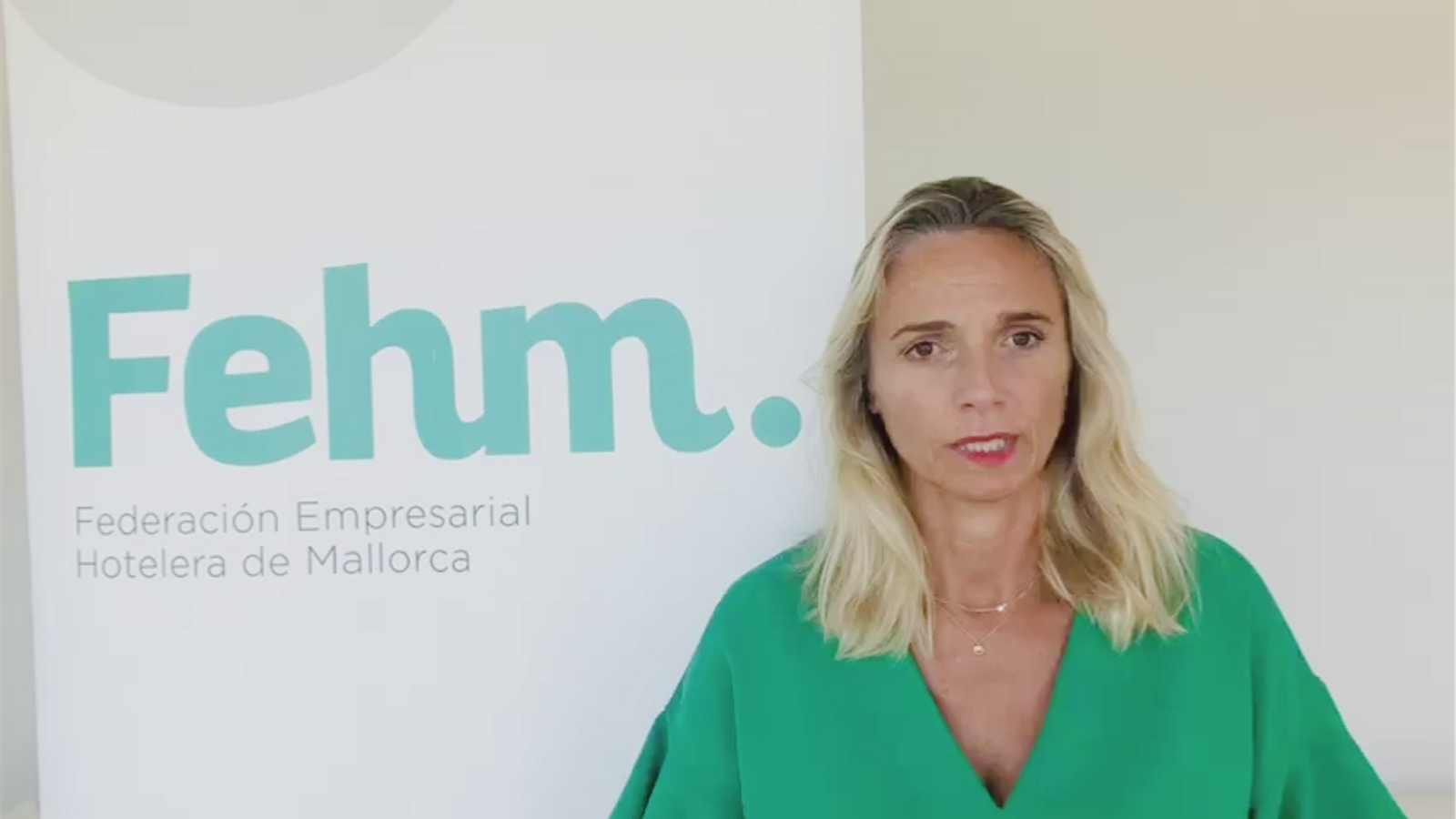 La presidenta de la Federació Empresarial Hotelera de Mallorca, Maria Frontera
