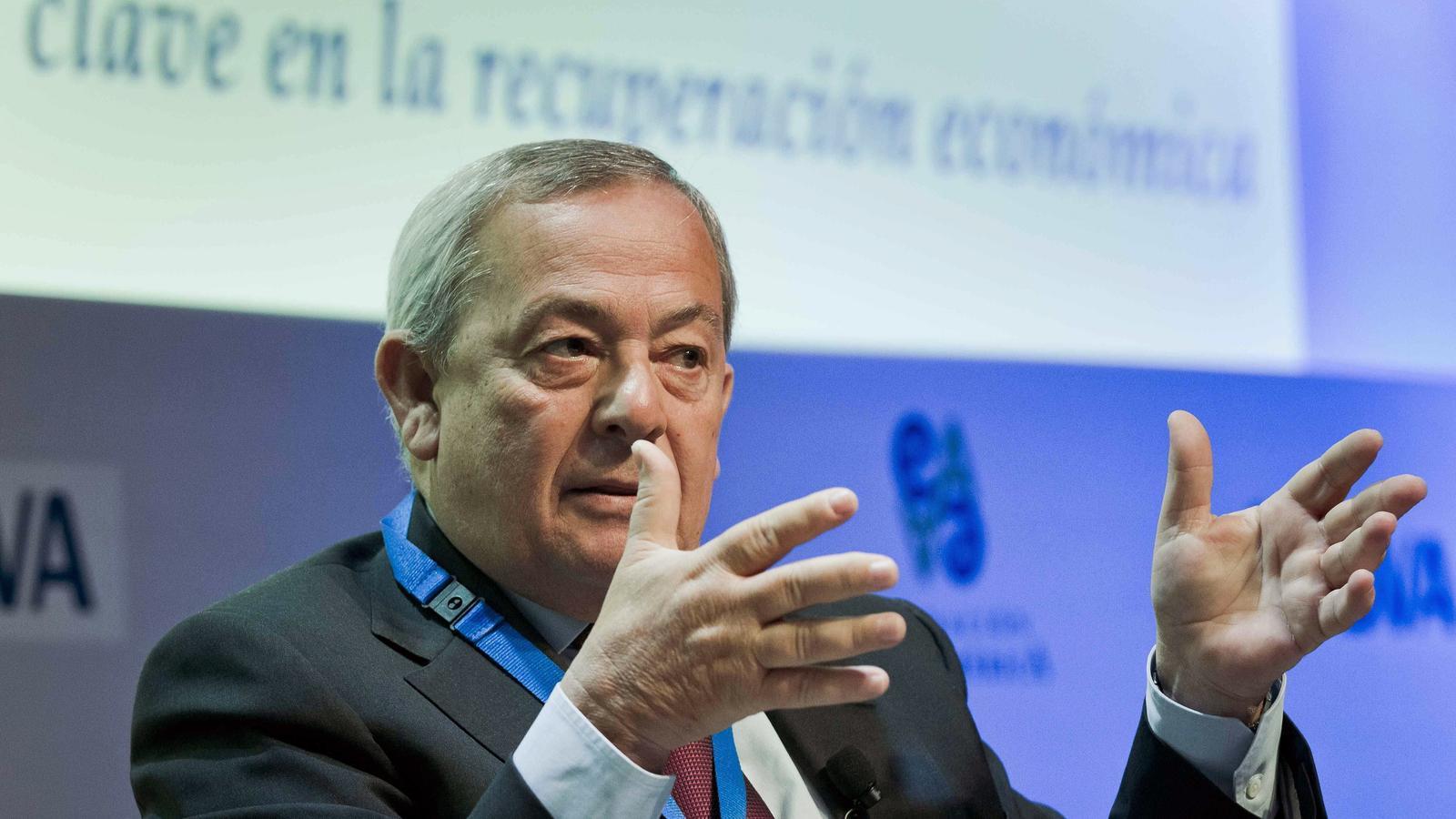 L'exministre d'Economia espanyol Carlos Solchaga, en una imatge d'arxiu.