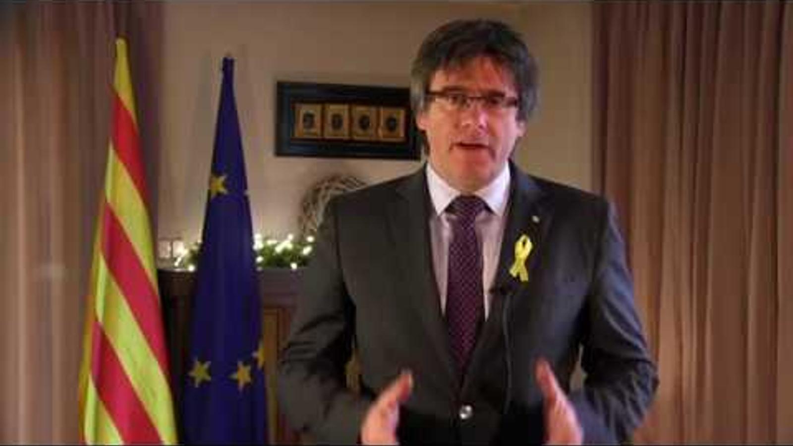 El discurs de Cap d'Any de Carles Puigdemont des de Bèlgica