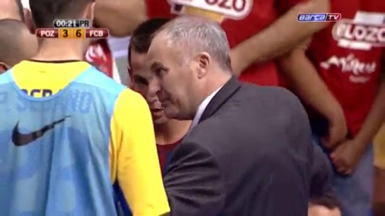 Marc Carmona recorda als jugadors del Barça Alusport després de guanyar la lliga que cal saber perdre i cal saber guanyar