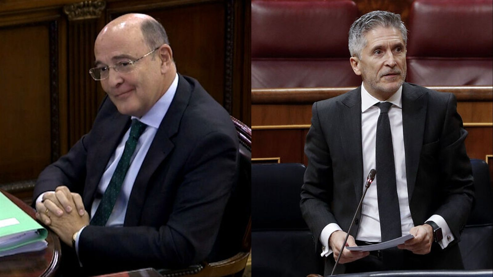 Imatge de Pérez de los Cobos (esquerra) i de Fernando Grande-Marlaska (dreta)