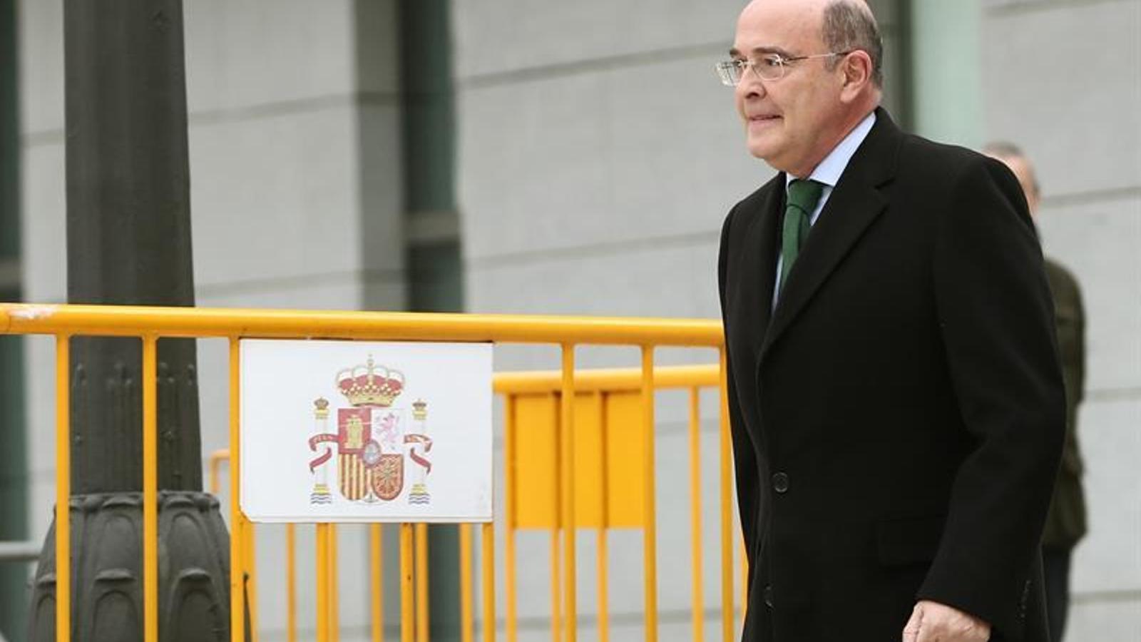 El coronel de la Guàrdia Civil Diego Pérez de los Cobos arribant a l'Audiència Nacional