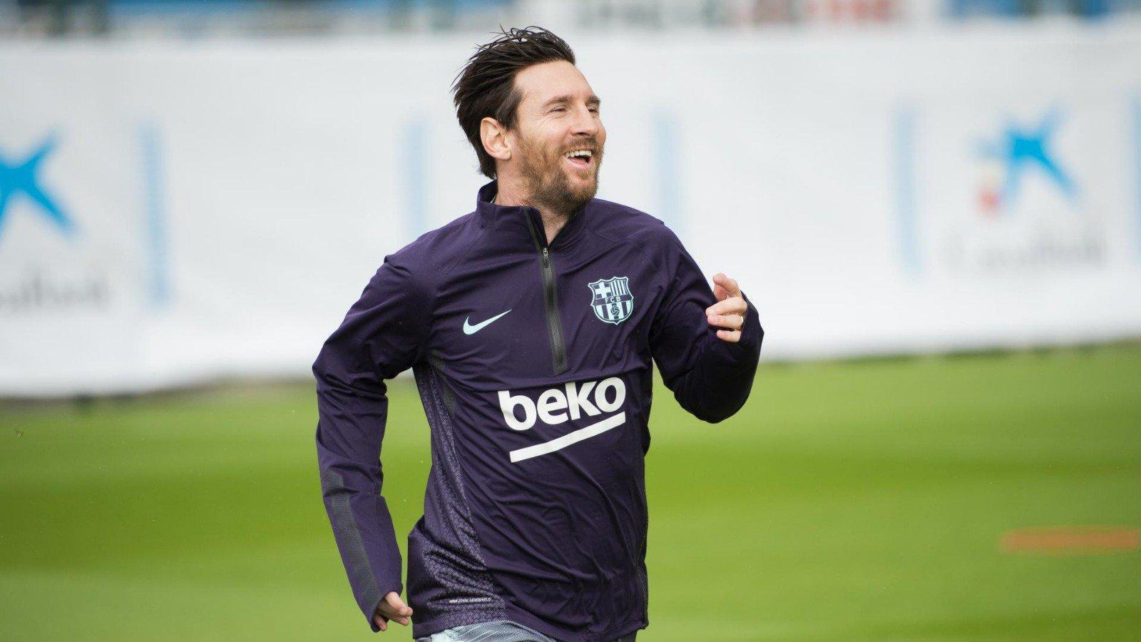 Messi torna a entrenar-se amb el Barça