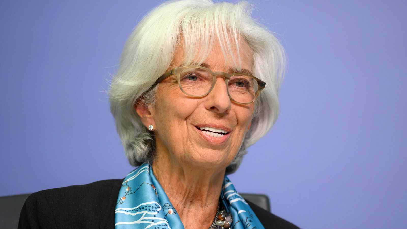 a presidenta del Banc Central Europeu (BCE), Christine Lagarde aquesta tarda a Frankfurt