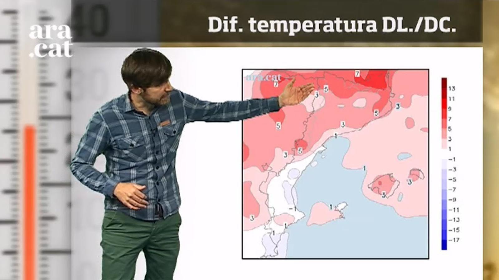 La méteo en 1 minut: migdies més càlids i cel canviant