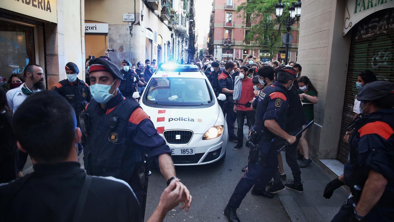 """Una detenció en les concentracions a Barcelona """"per recuperar els carrers"""""""