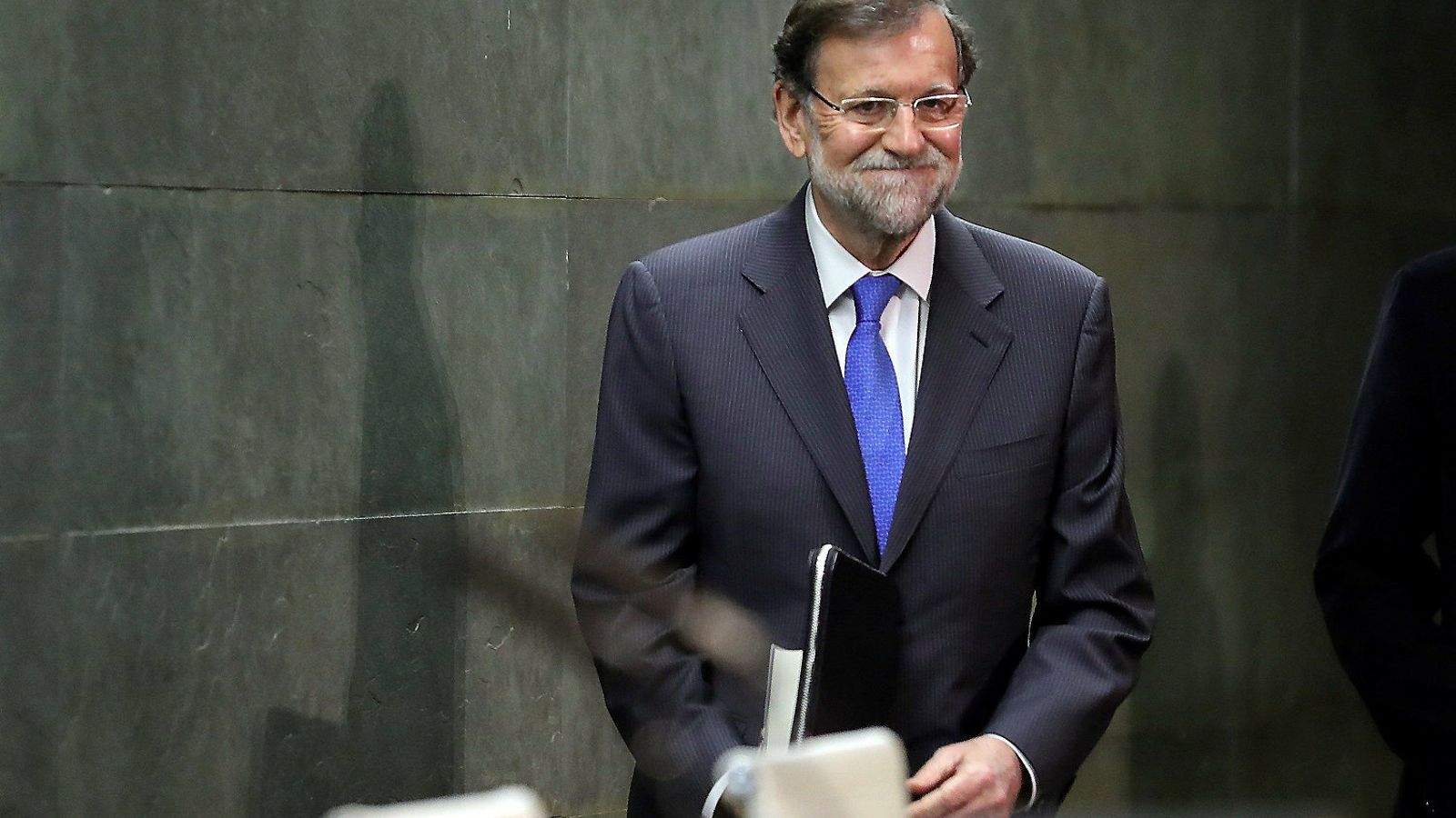 L'expresident del govern espanyol Mariano Rajoy ahir durant la presentació del seu llibre de memòries.