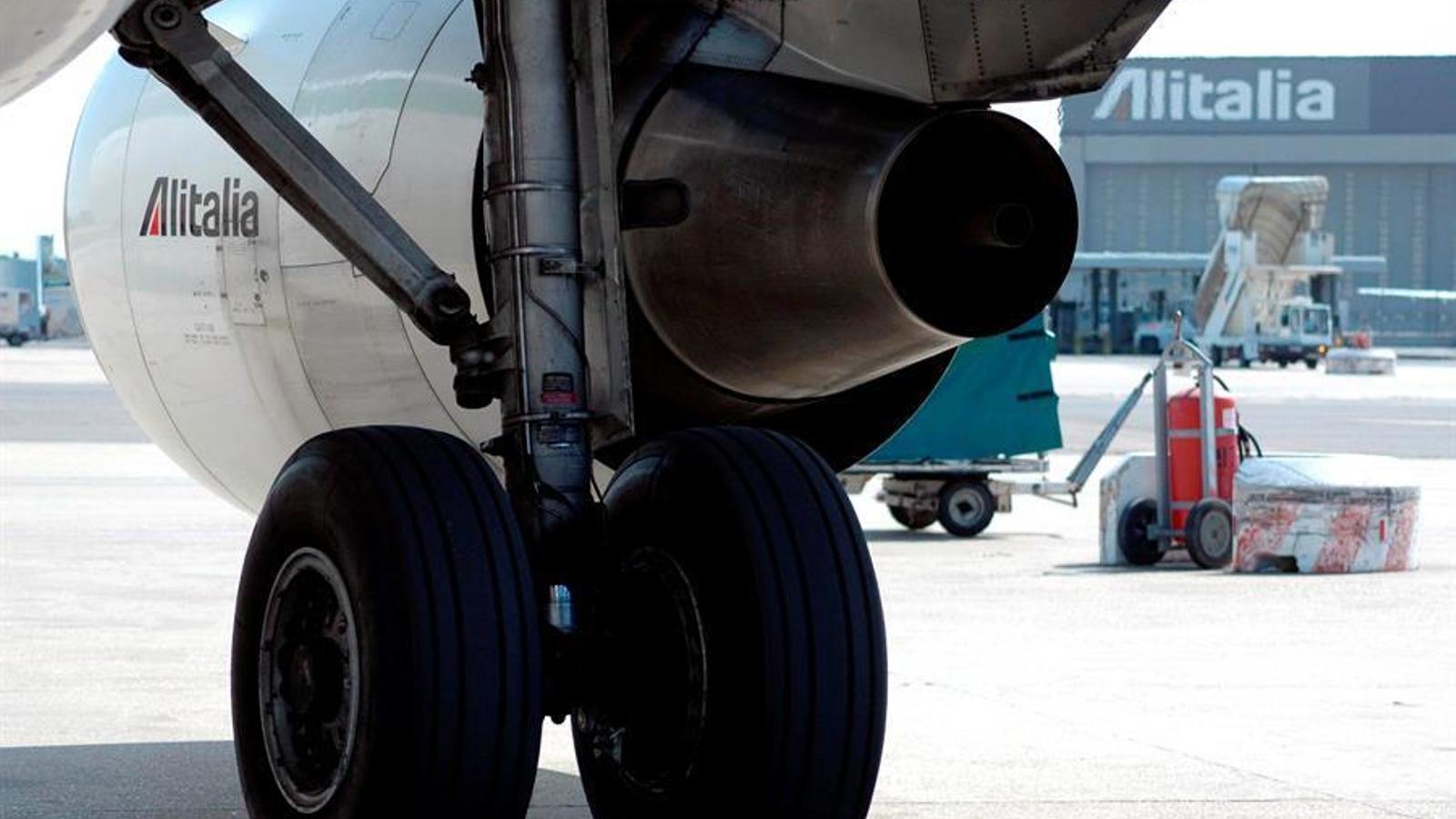 Un avió d'Aliatalia a l'aeroport de Roma. EFE