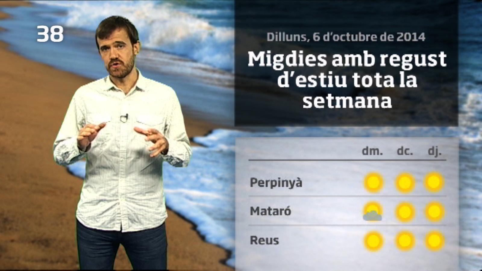 La méteo en 1 minut: més sol i migdies estiuencs (07/10/14)