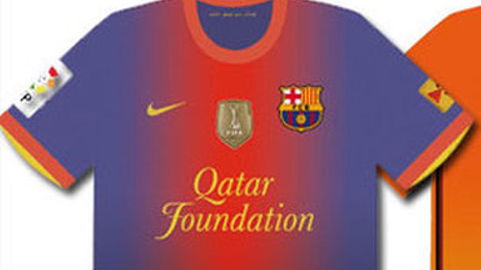 La samarreta del Barça 2012/13, segons l'Sport.
