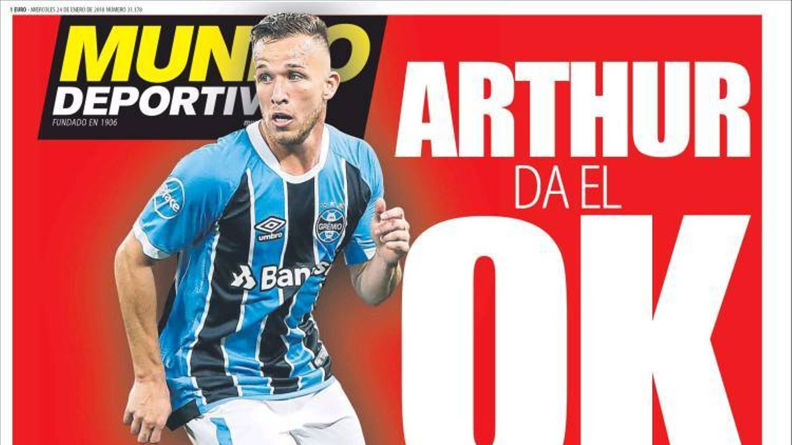 Portada 24 gener 2018 Mundo Deportivo