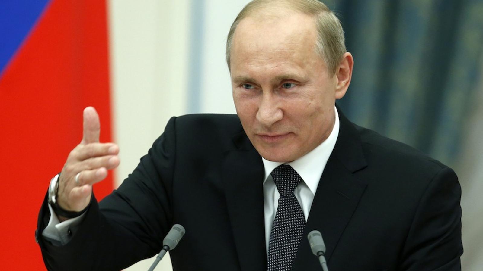 El president rus, Vladimir Putin, aquest dimecres. Reuters