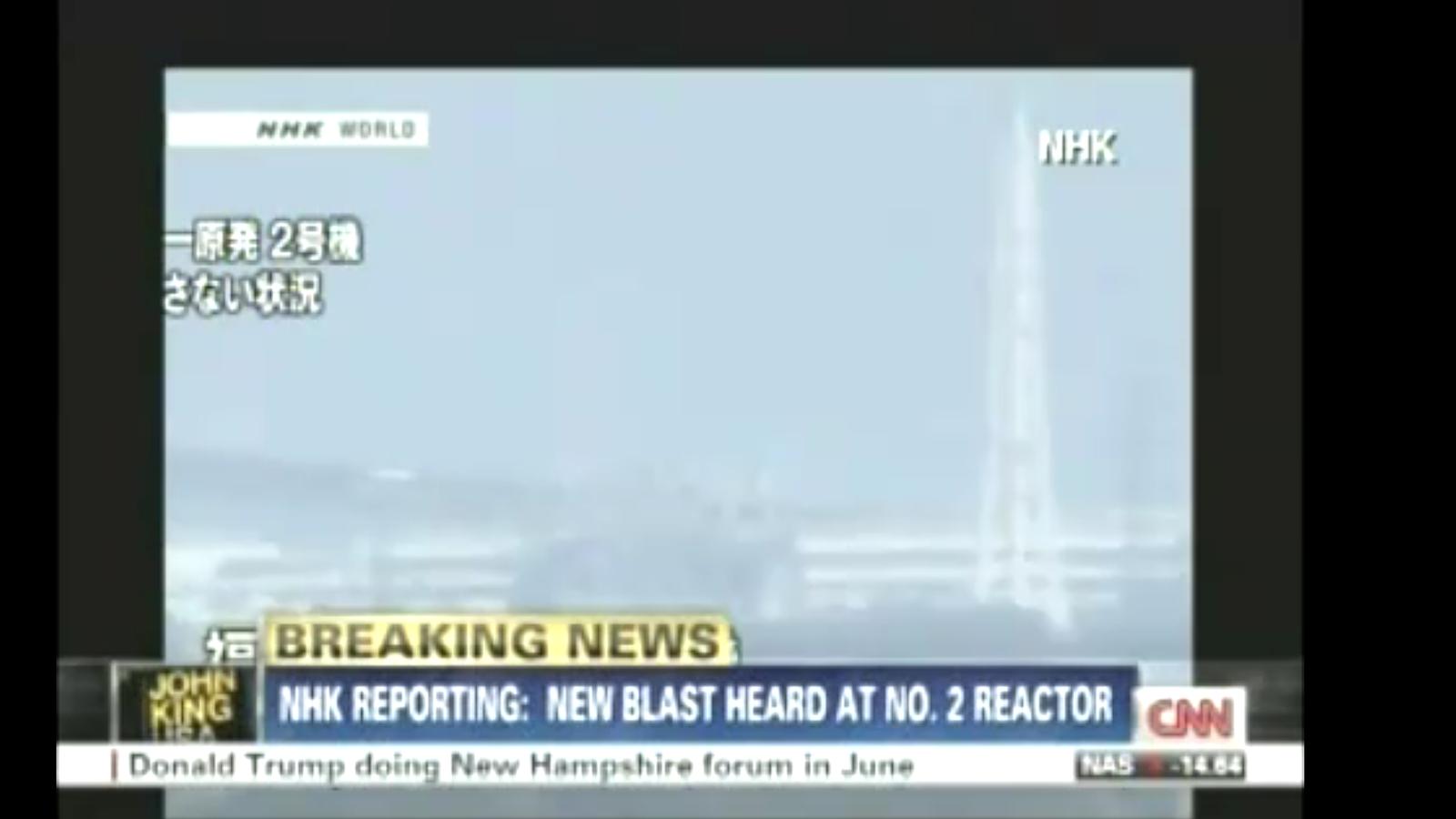 Tercera explosió a la central nuclear de Fukushima