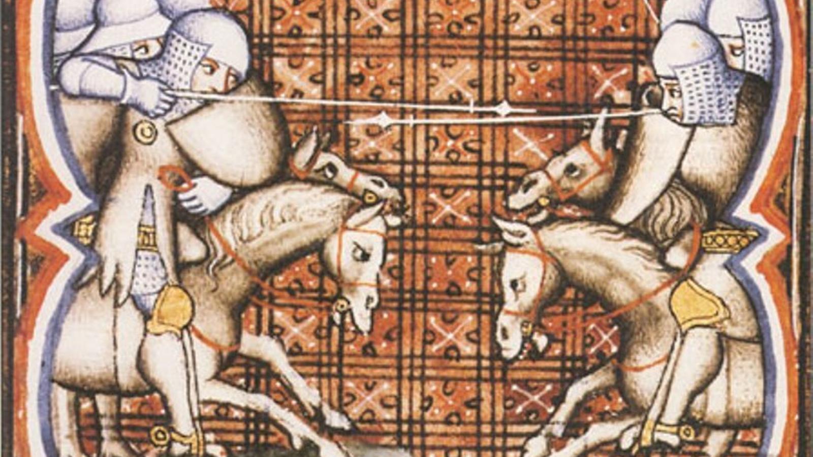 La batalla de Muret. Grandes Chroniques de France.