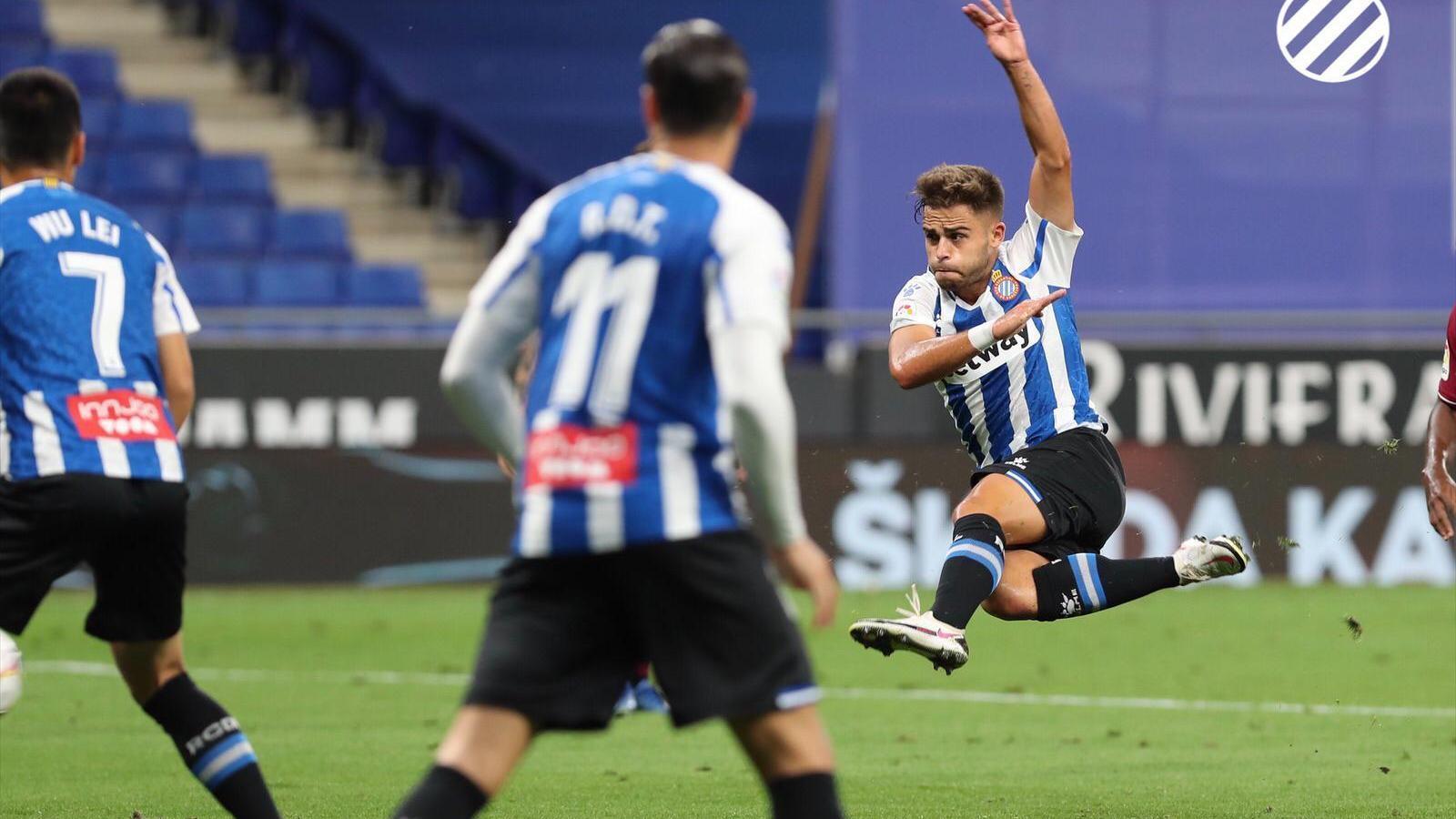 Melendo ha marcat el primer gol de l'Espanyol en el seu retorn a Segona Divisió