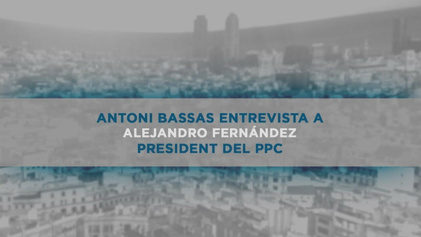 Entrevista d'Antoni Bassas a Alejandro Fernández