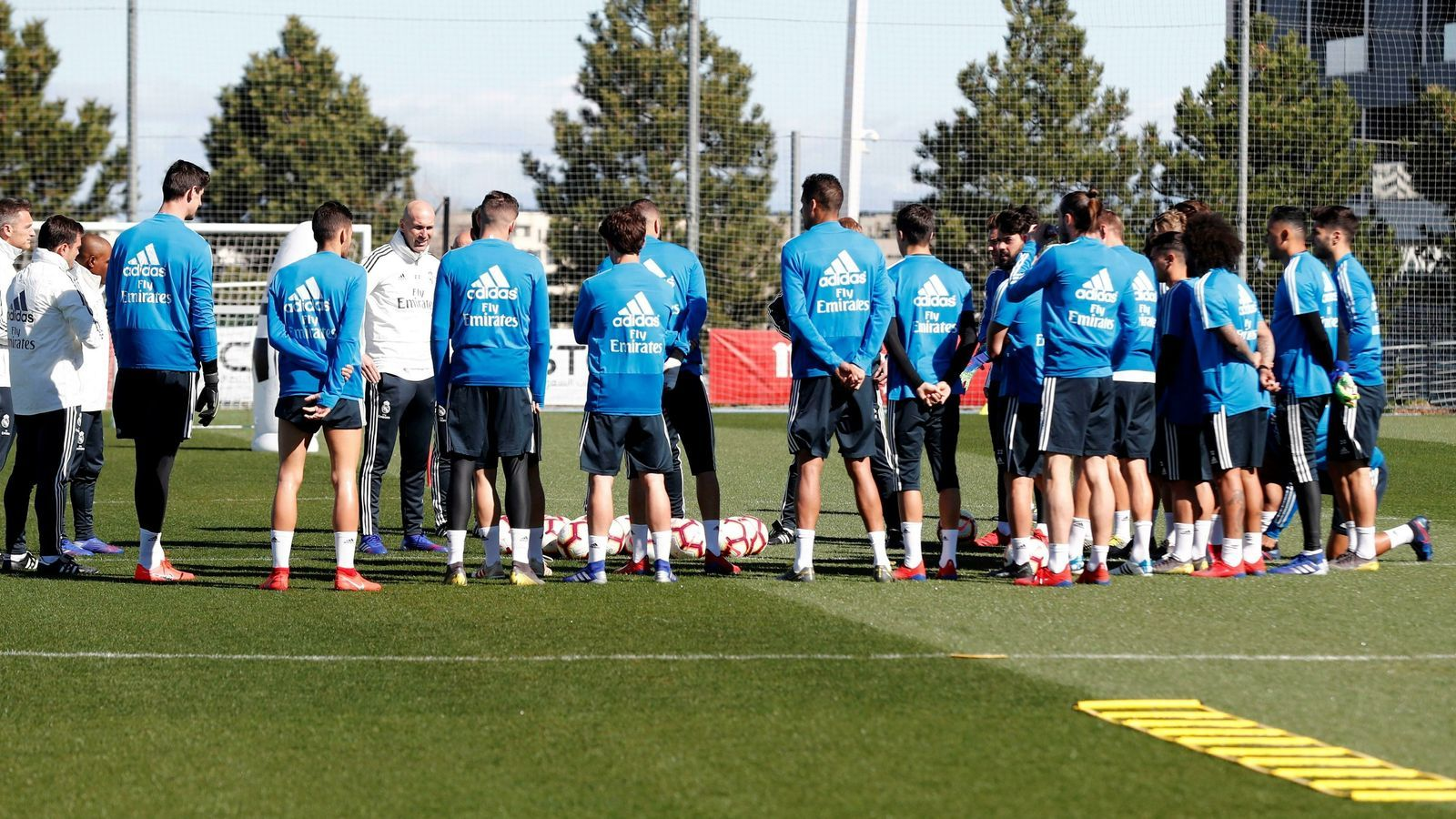Primer entrenament de Zinedine Zidane