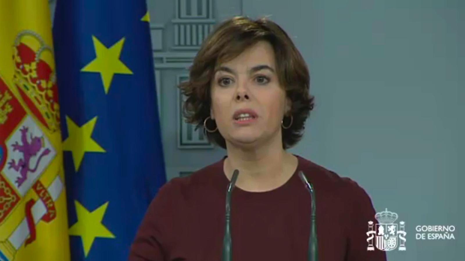 """Santamaría: """"El govern espanyol no pot acceptar que es doni validesa a la llei del referèndum"""""""