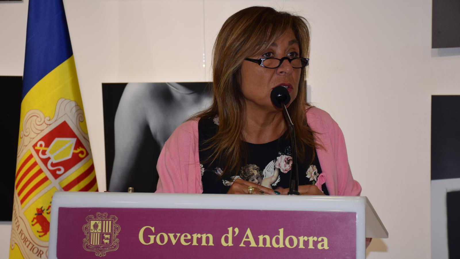 La cònsol major d'Andorra la Vella, Conxita Marsol. / C. A.